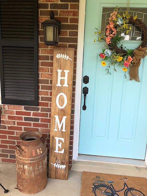 Tall and Lean Wooden Home Farmhouse Sign