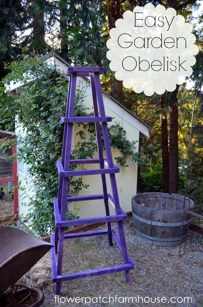 Easy Wooden DIY Garden Obelisk
