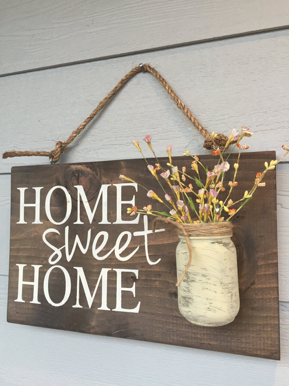 Prairie Home-Sweet-Home Sign & Flower Holder