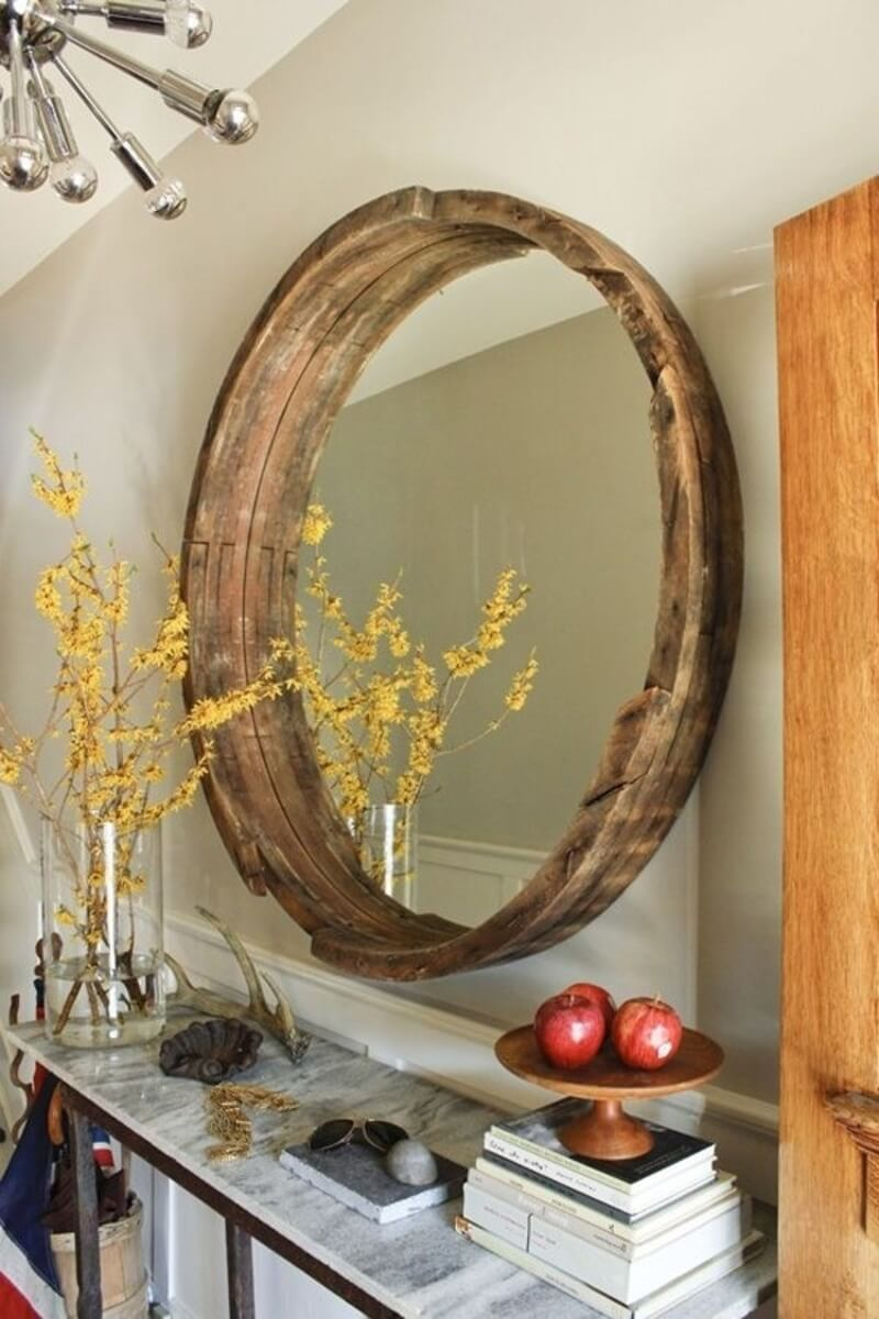Mirror-Mirror Wine Barrel Frame