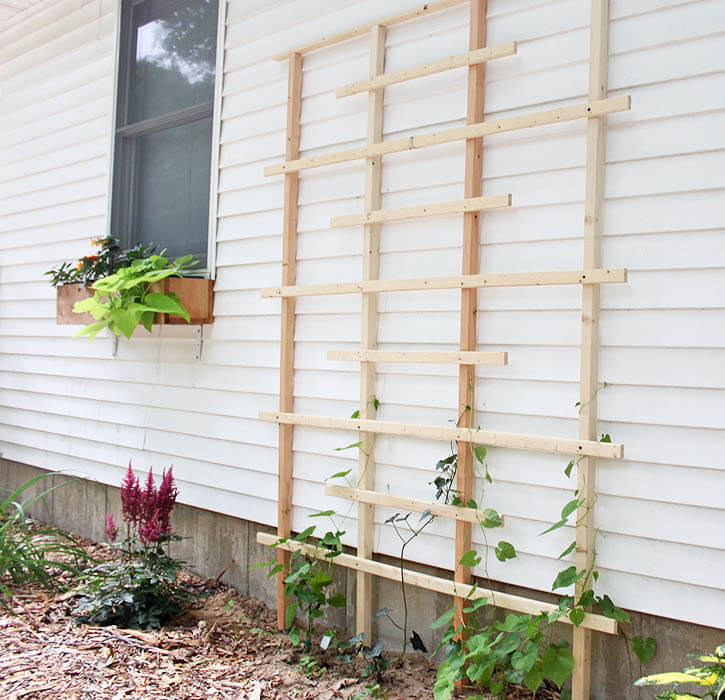 Easy Homemade Wooden Vine Trellis