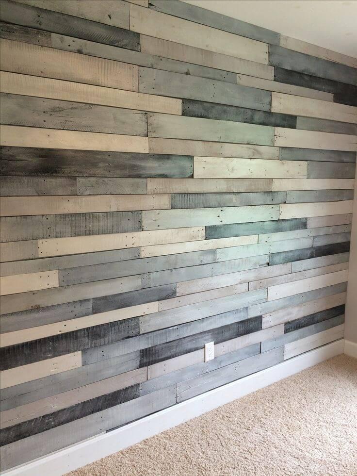 Multi Shaded Rough Cut Wood Wall