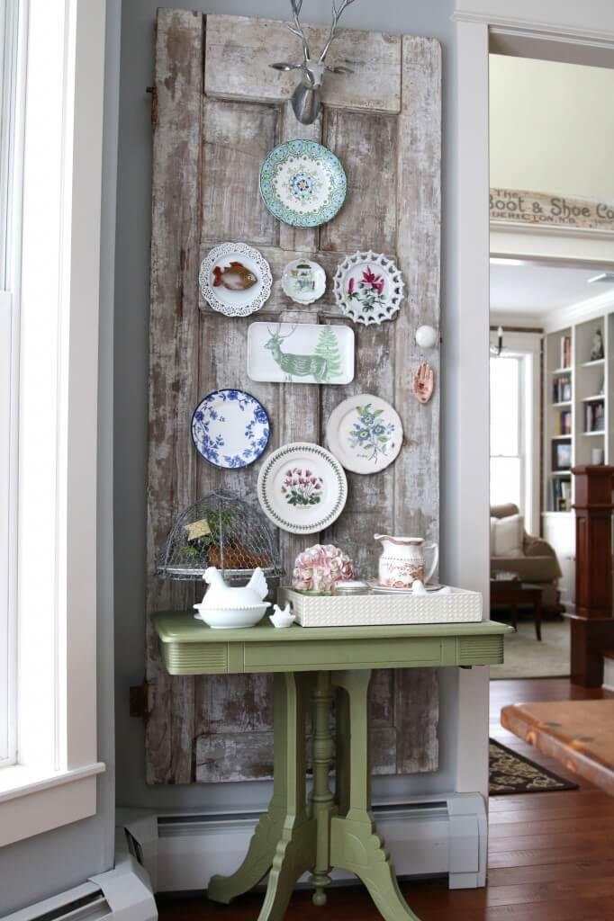 Farmhouse Pantry Porcelain Door Display