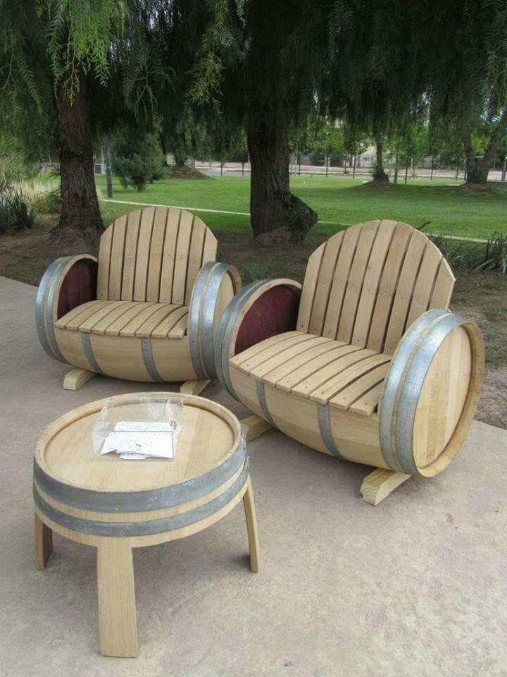Barrel Luxury Restructured Patio Set