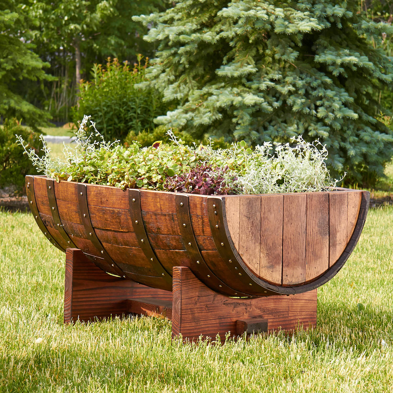Half-Barrel Garden Planter