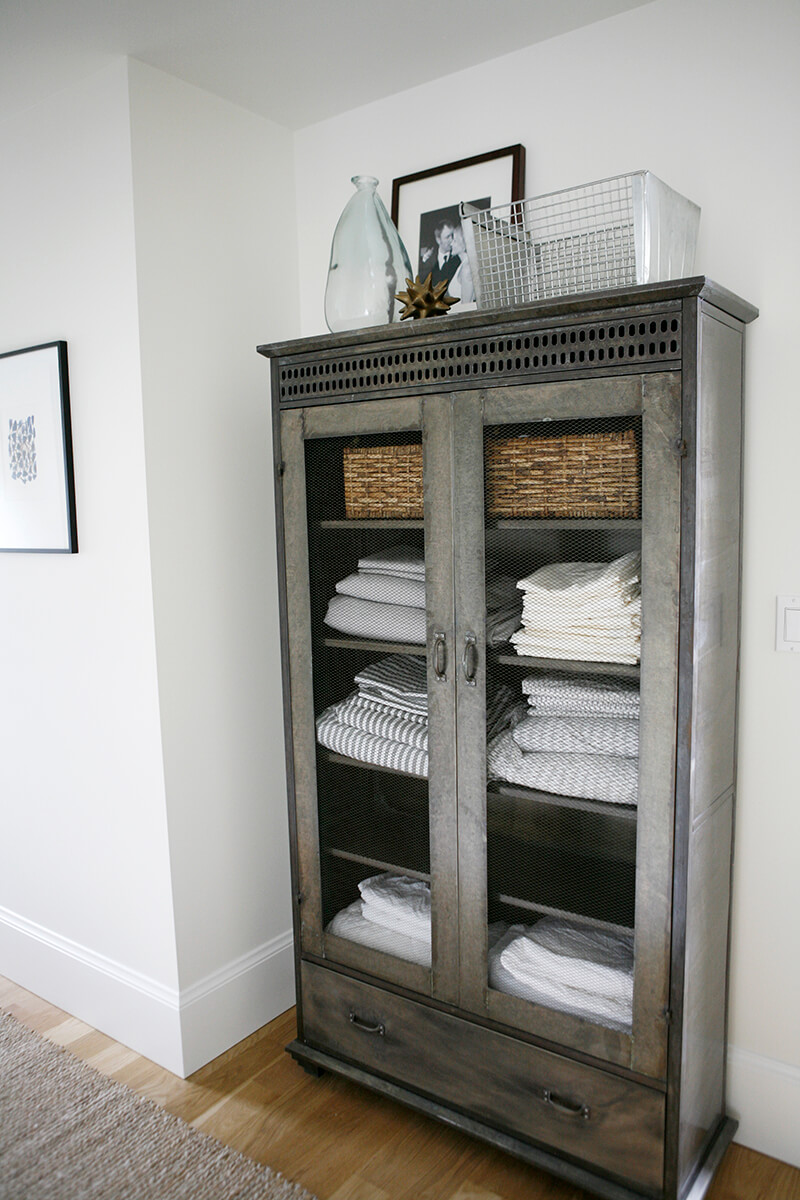 open wardrobe towel linen storage - Towel Storage
