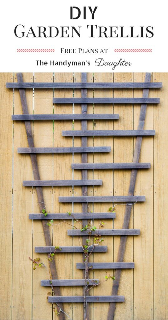 Stylized V-Shaped Garden Flower Trellis