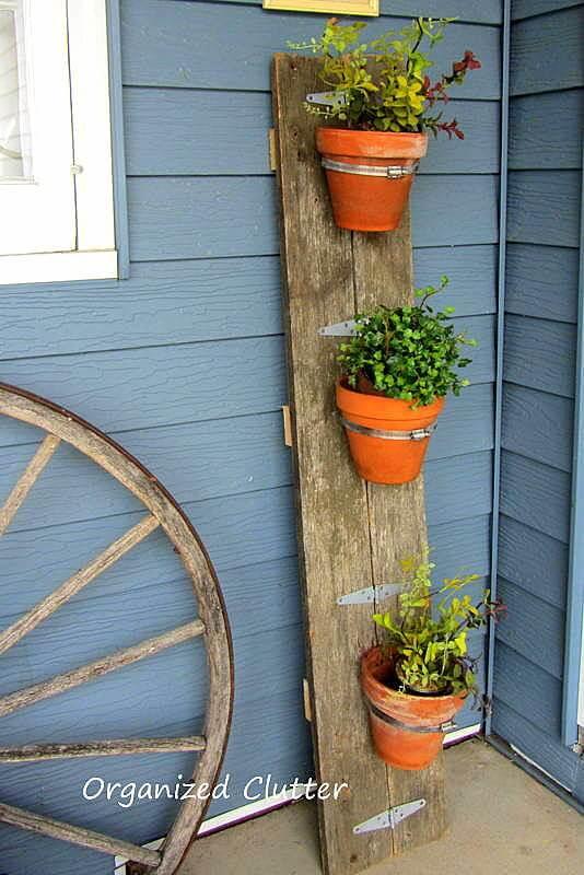 Fence Board Planted Pot Holder