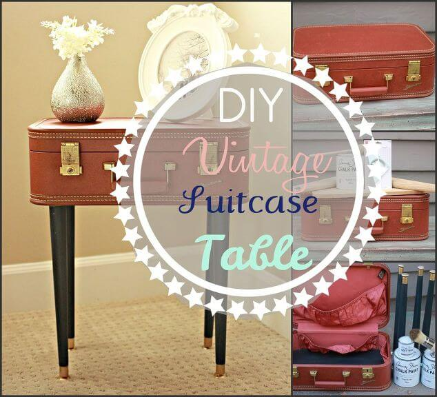 Armchair Traveler Vintage DIY Suitcase Table