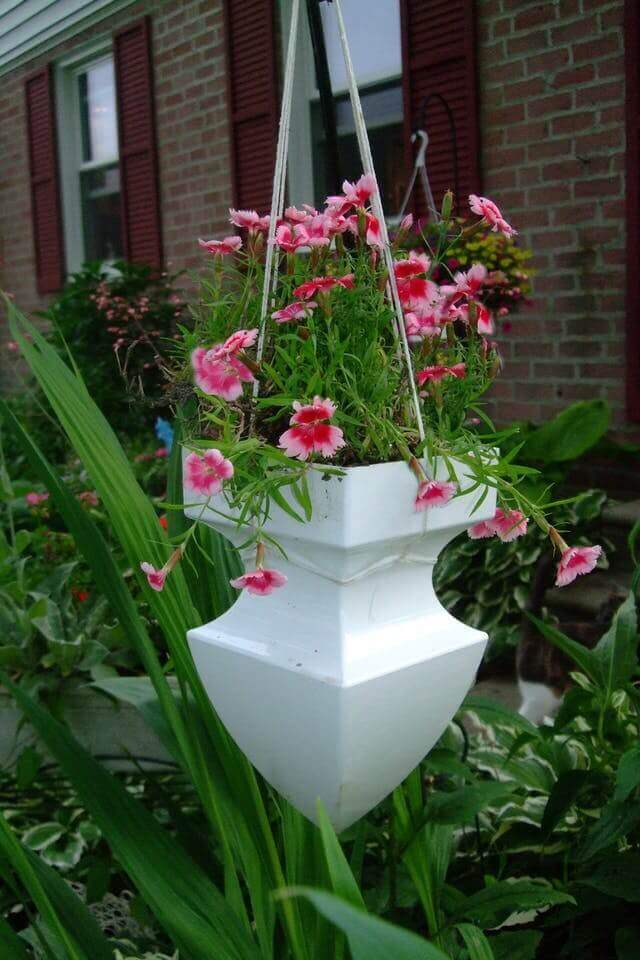 Cleverly Repurposed Architectural Pediment Planter