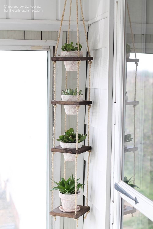 Beautiful Hanging Plant Shelves
