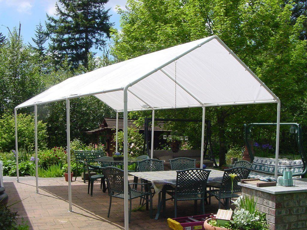 22 best diy sun shade ideas and designs for 2018 brilliant diy tent frame from pvc solutioingenieria Image collections