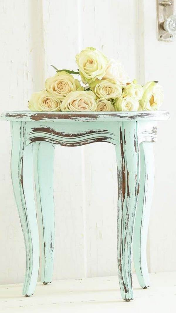 Rococo Chic Chipped Painted Table