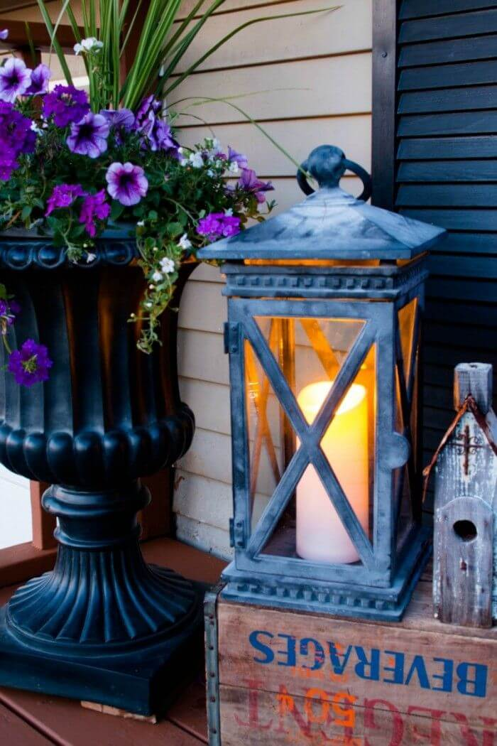 Oversized Rustic Porch Candle Lantern