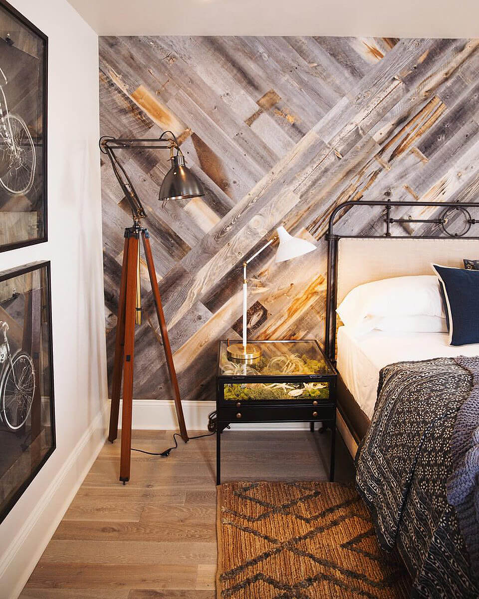 Hipster Vibes Criss Cross Wood Wall