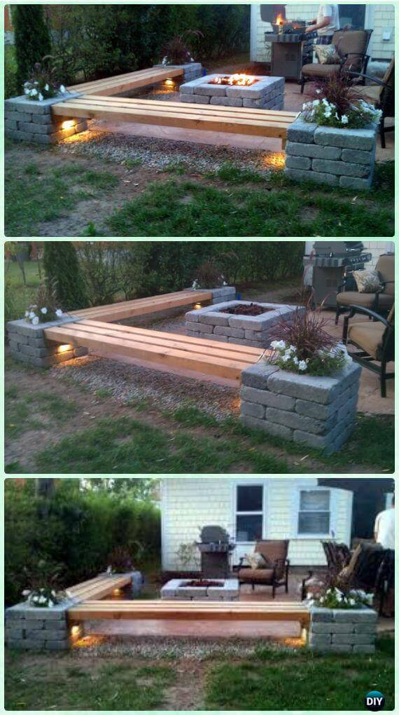 Merveilleux Joshua Tree Fire Pit Corner. DIY Project ...
