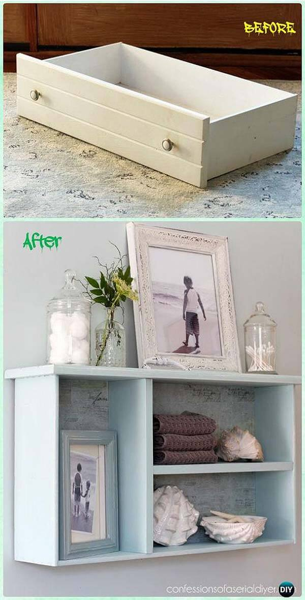No More Junk Drawer: Charming DIY Wall Shelves
