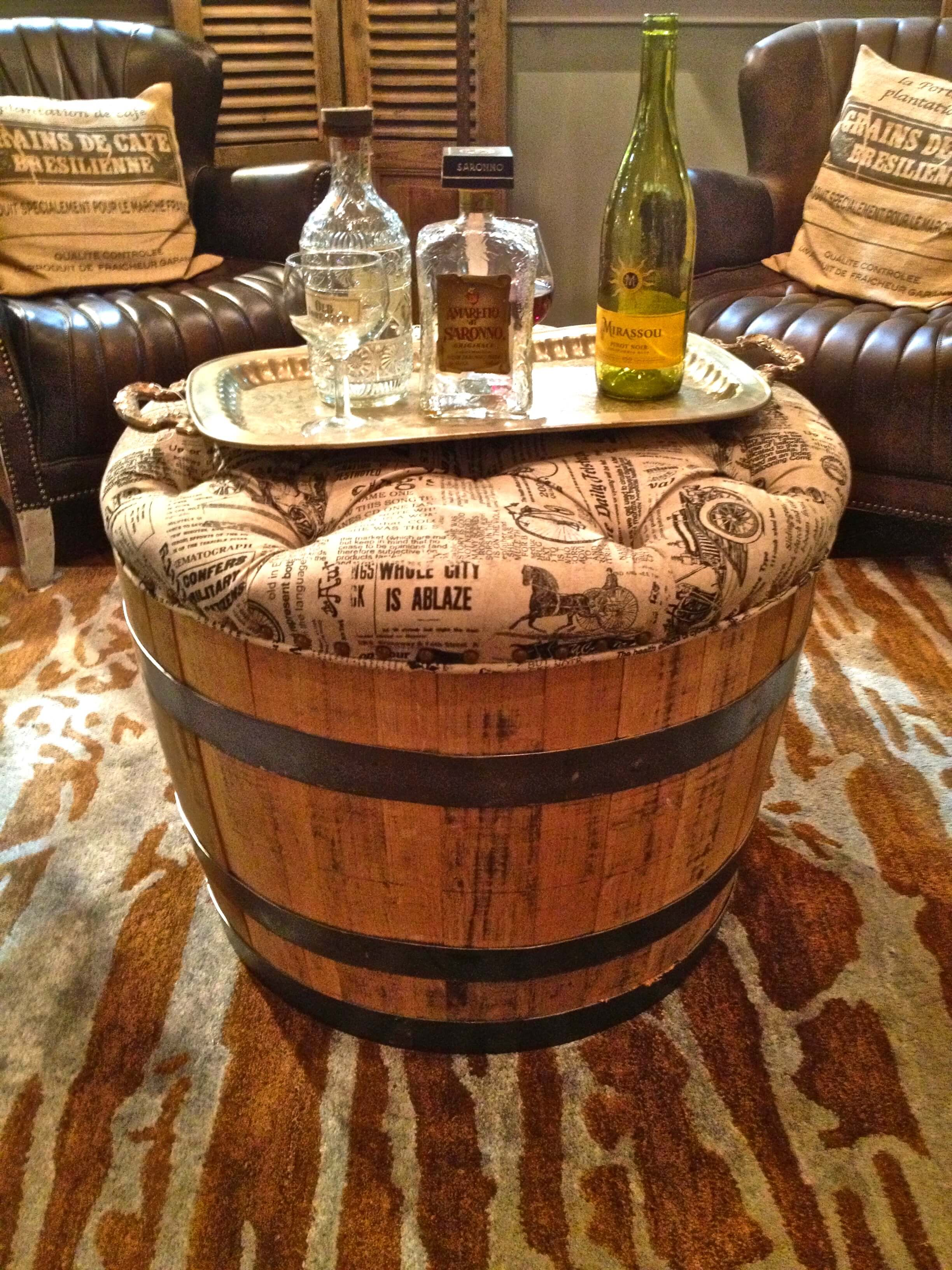 Upholstered Multi-Use Barrel Settee