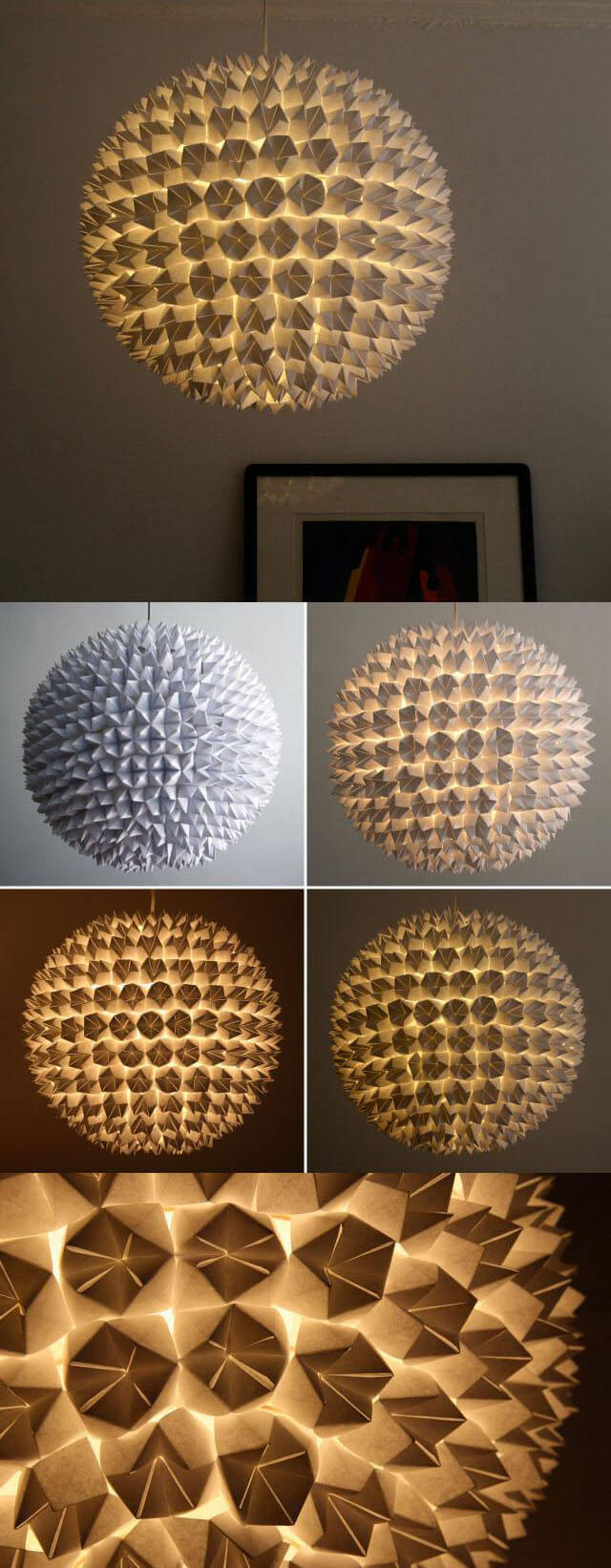 lighting diy. 18. Intricate Paper Burst Orb Lampshade Lighting Diy