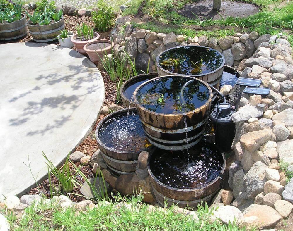 Bavarian Multi-Barrel Garden Fountain