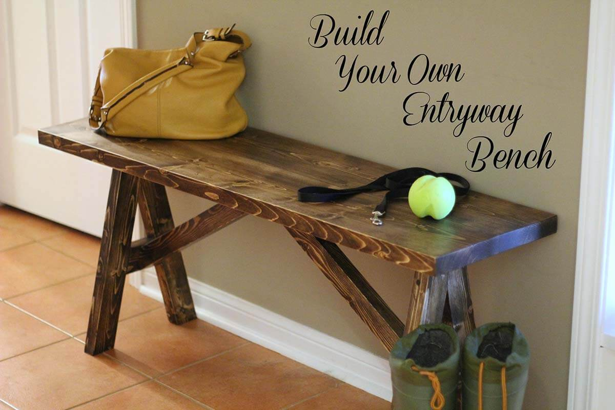 Rustic DIY Wooden Sawhorse Bench