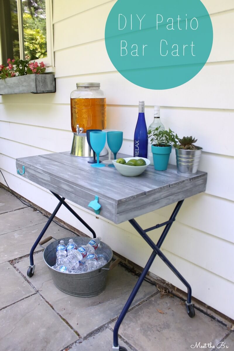 A Wooden Bar Cart for your Patio
