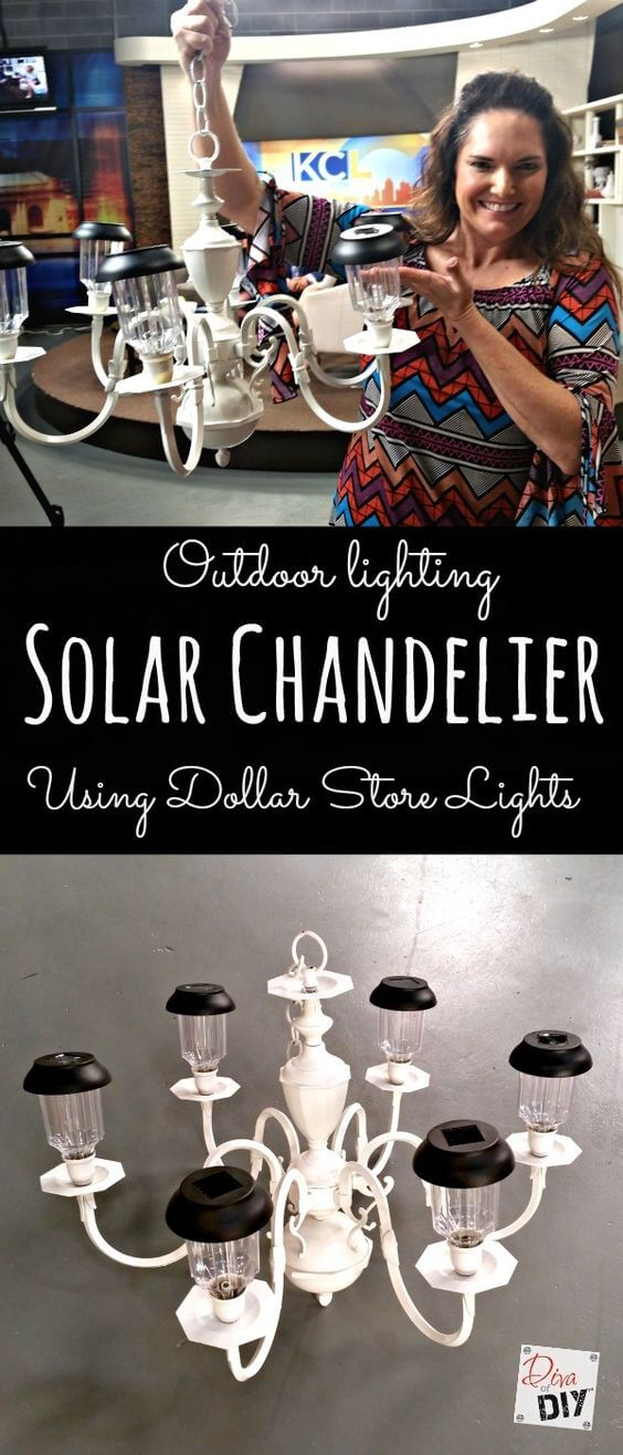 Bourgeois-On-A-Budget Solar Light Chandelier