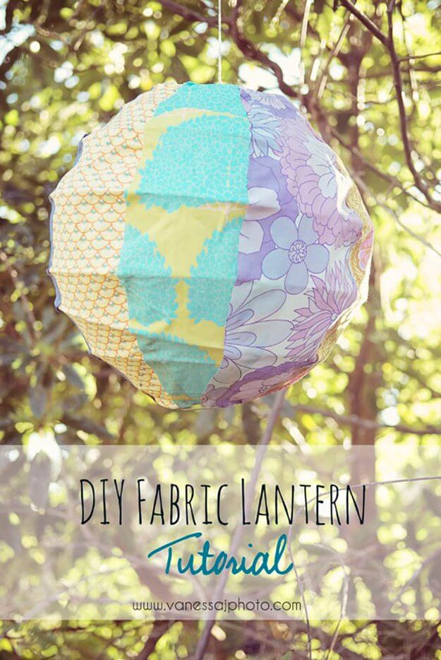Creative DIY Fabric Covered Lantern
