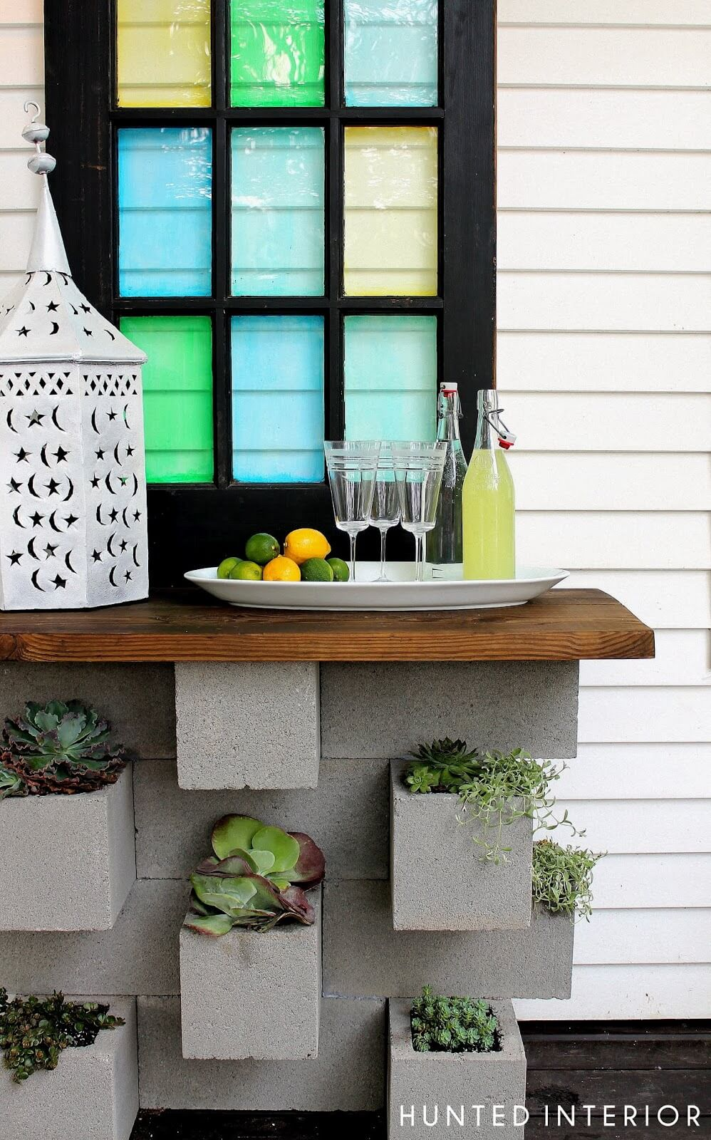 A Simple Wooden Shelf to Hold Drinks