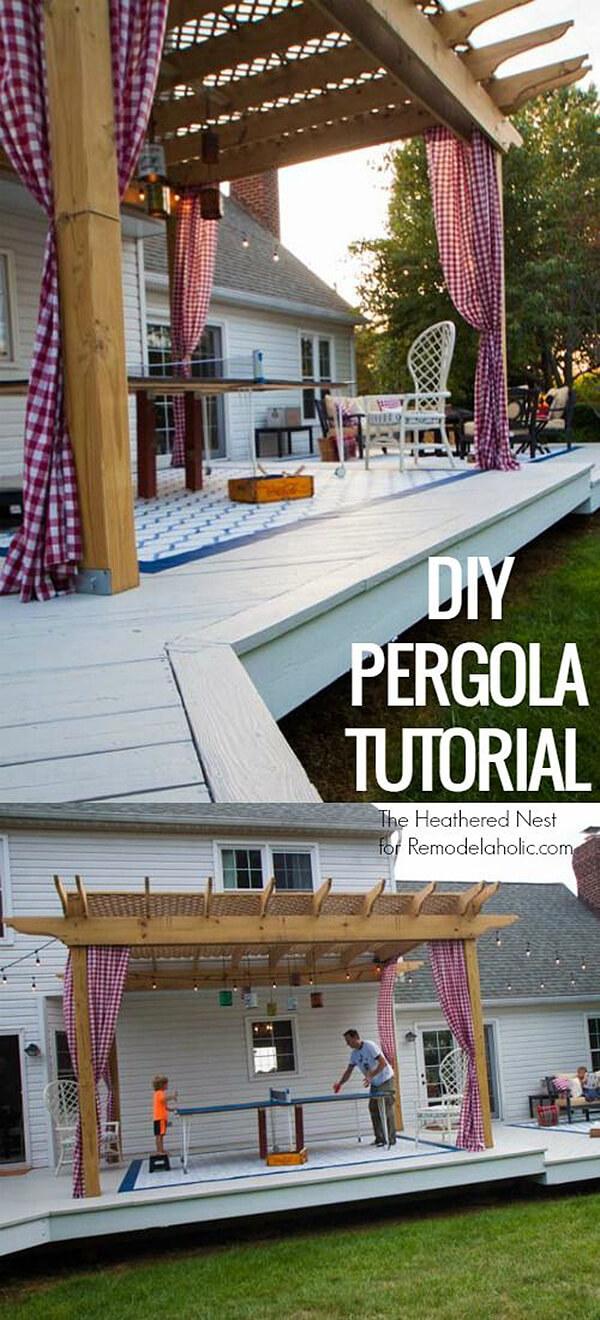 DIY Back Deck Pergola Design