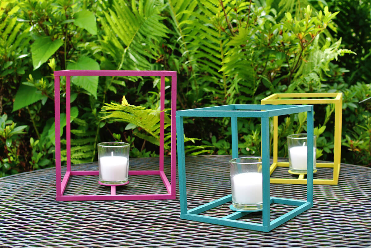 Modern and Colorful Candle Holder Cubes