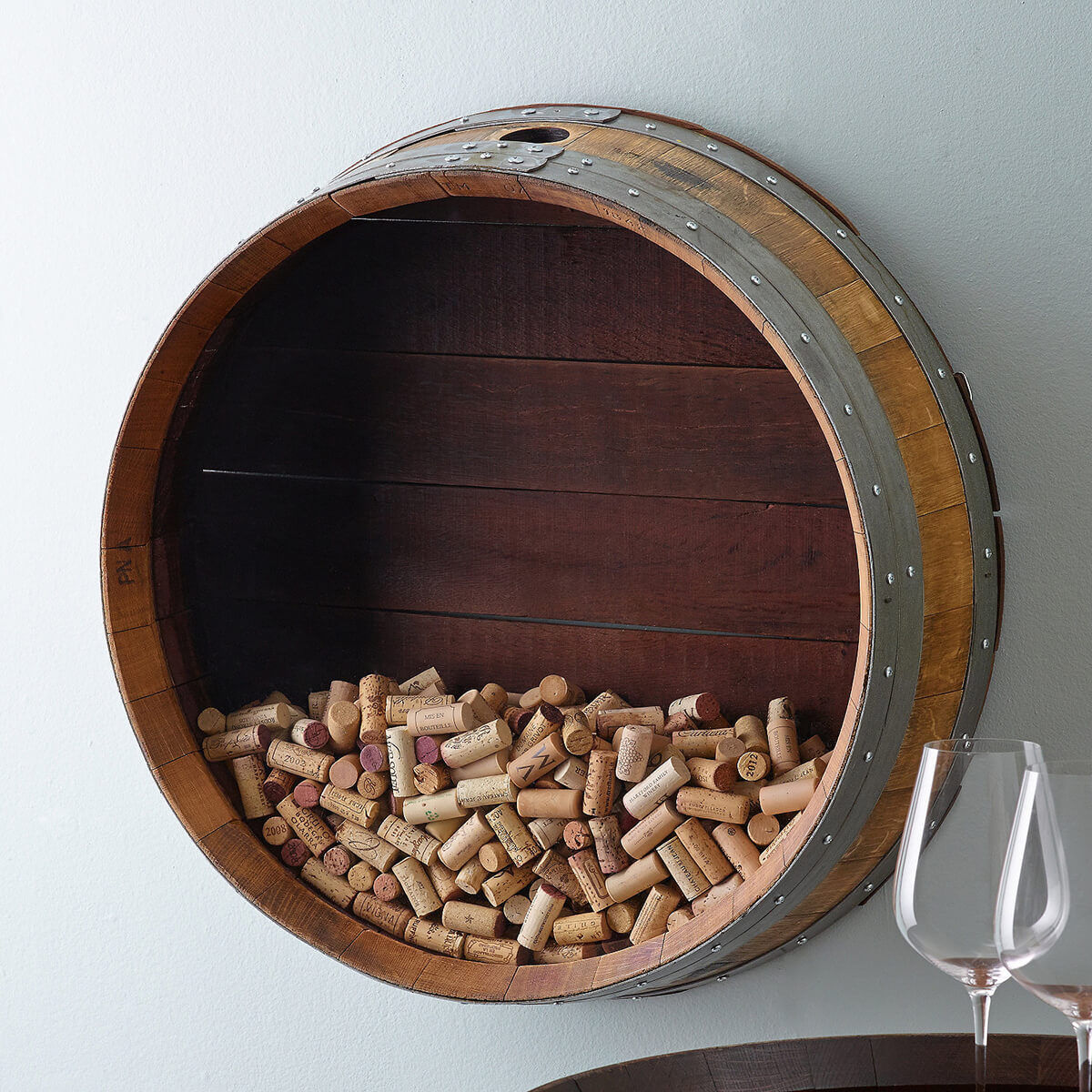 Cork and Barrel Wall Display