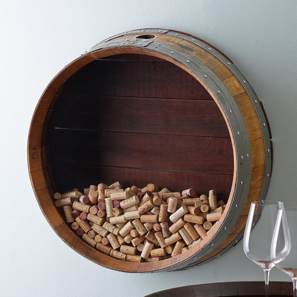 Cork and Barrel Wall Display