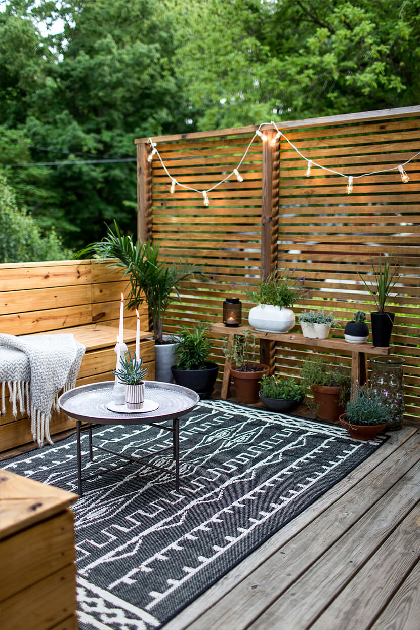 Modern Garden Seating Area with Industrial Touches — Homebnc on Small Garden Sitting Area Ideas id=98518