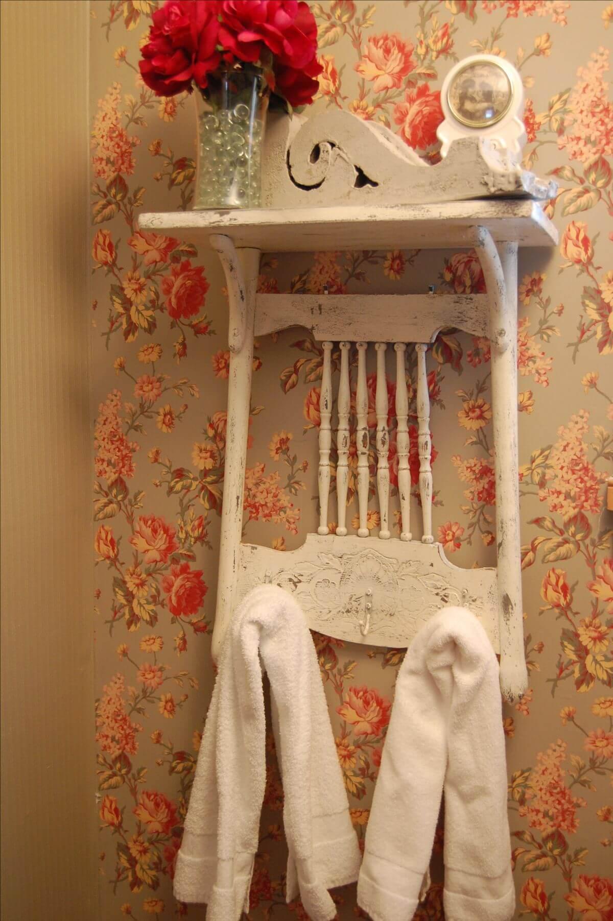 Charming Chair-Mounted Towel Hang