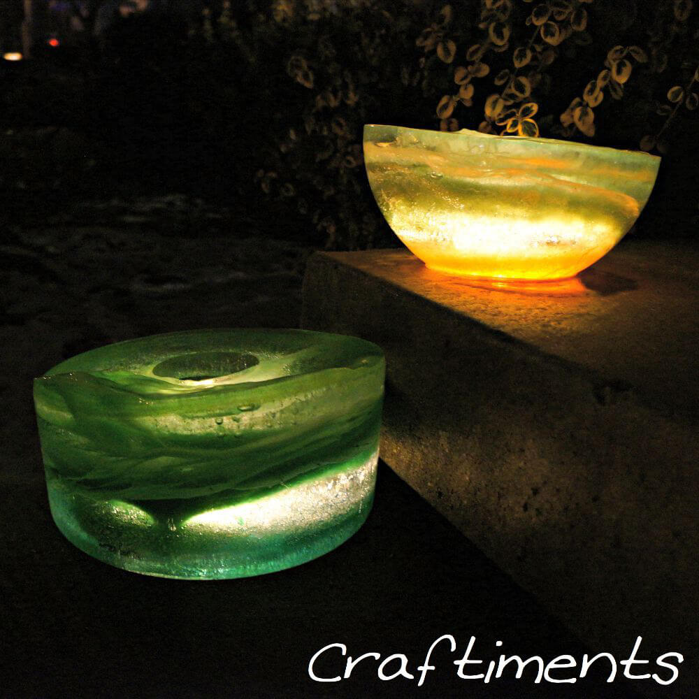 Colored Frozen Ice Lanterns for Winter