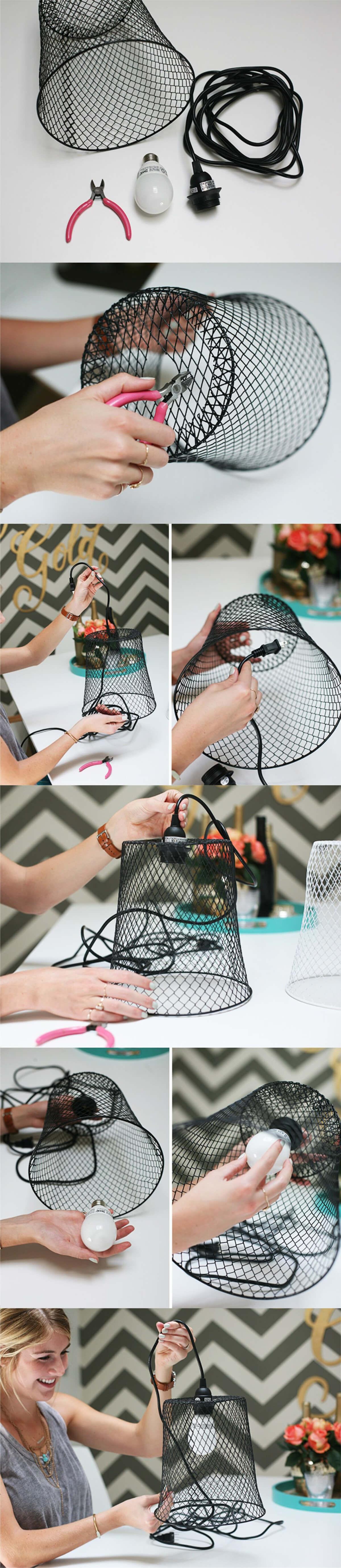 Mesh Basket Lampshade