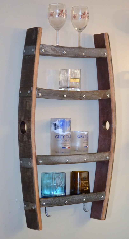 Saloon Style Wine Barrel Shelf