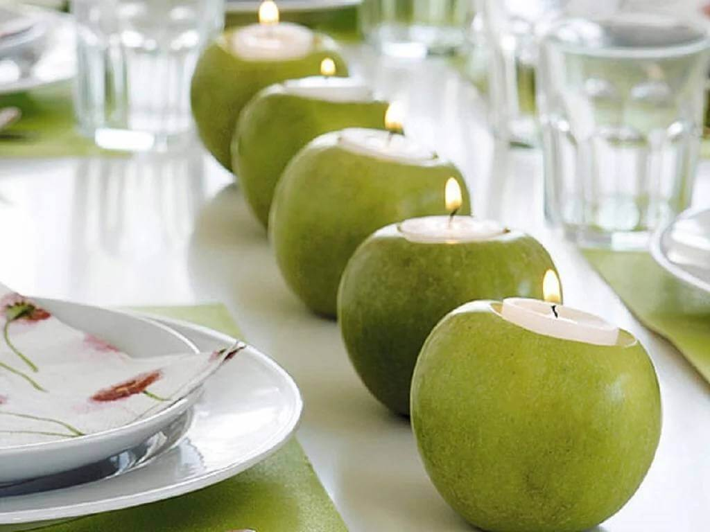 Simple and Elegant Apple Tea Candle Holders