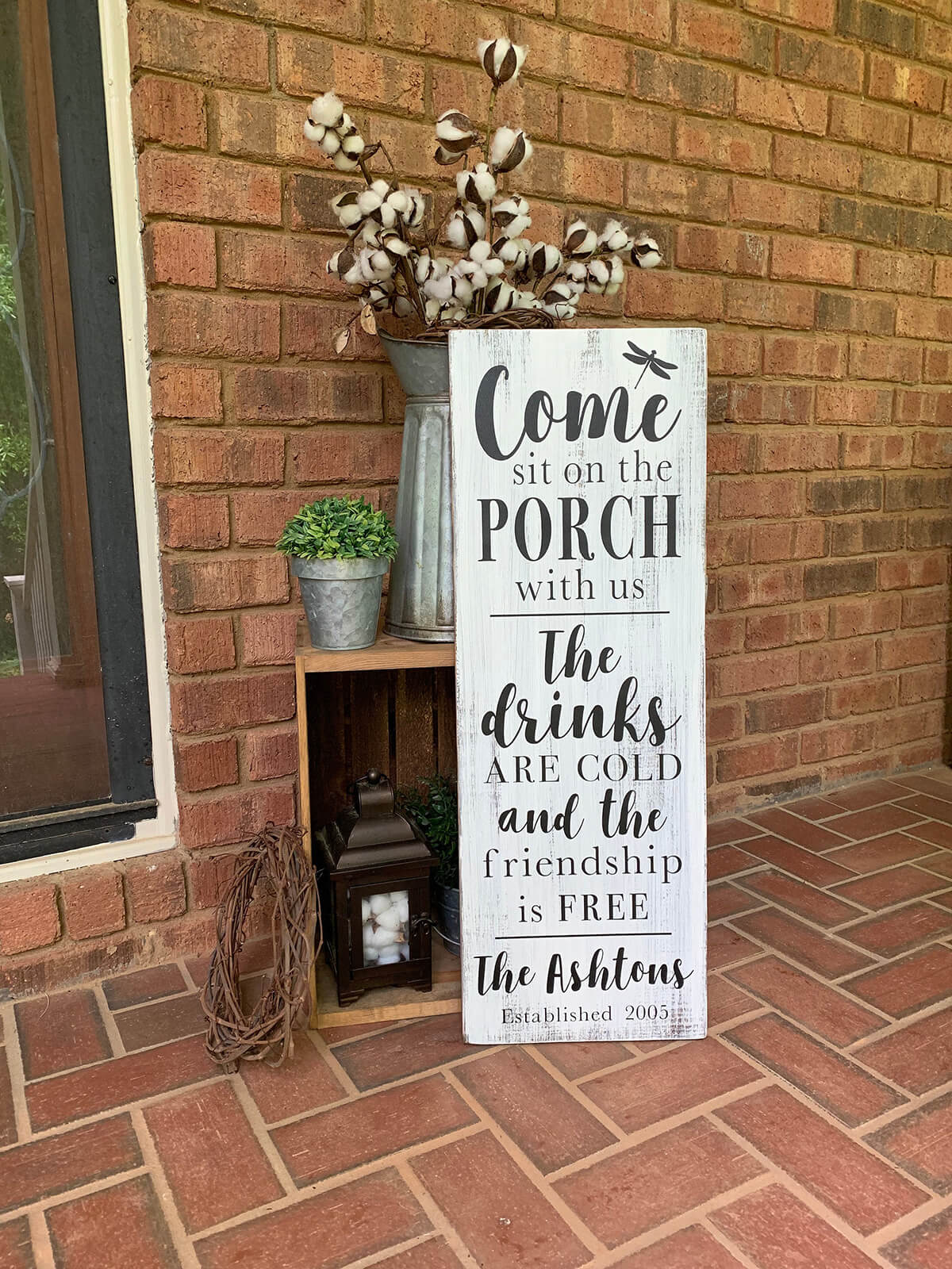 Family Name Personalized Porch Sign