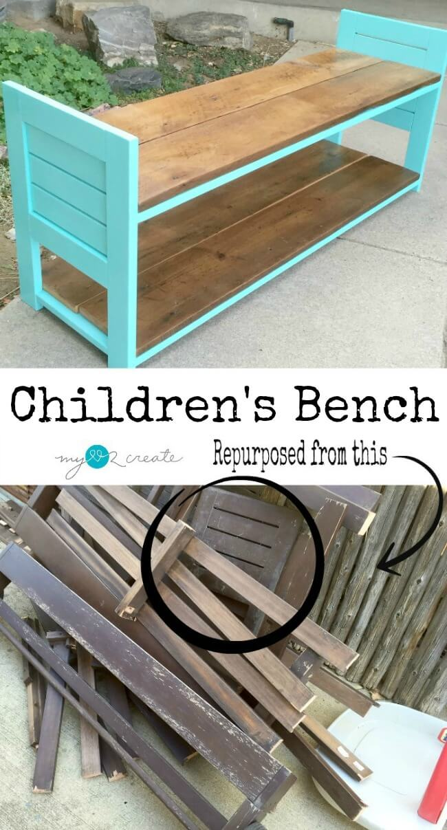 Scrap Wood Children's Bench Project