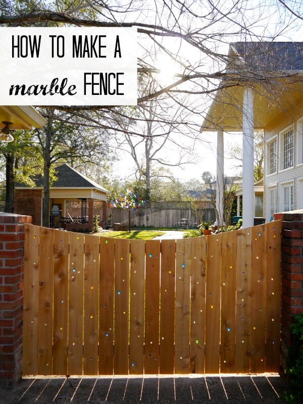 Fanciful Glass Marble Embellished Fence