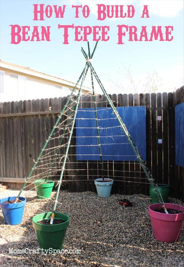 TeePee Trellis Frame for Pole Beans