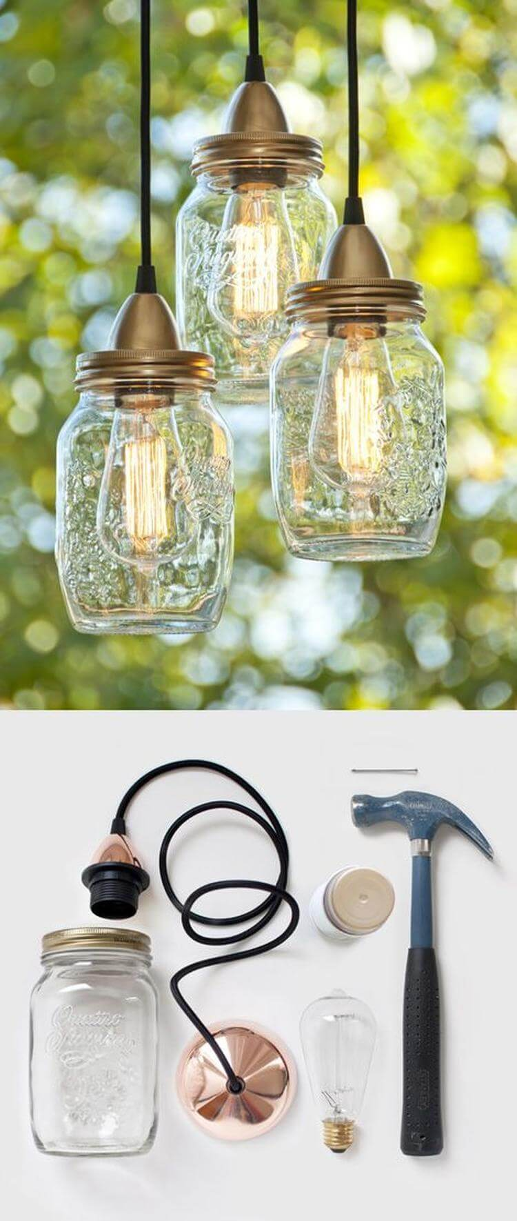 34 best diy lamp and lamp shade ideas and designs for 2018 mason jar folksy lamps mason jar folksy lamps diy solutioingenieria Image collections