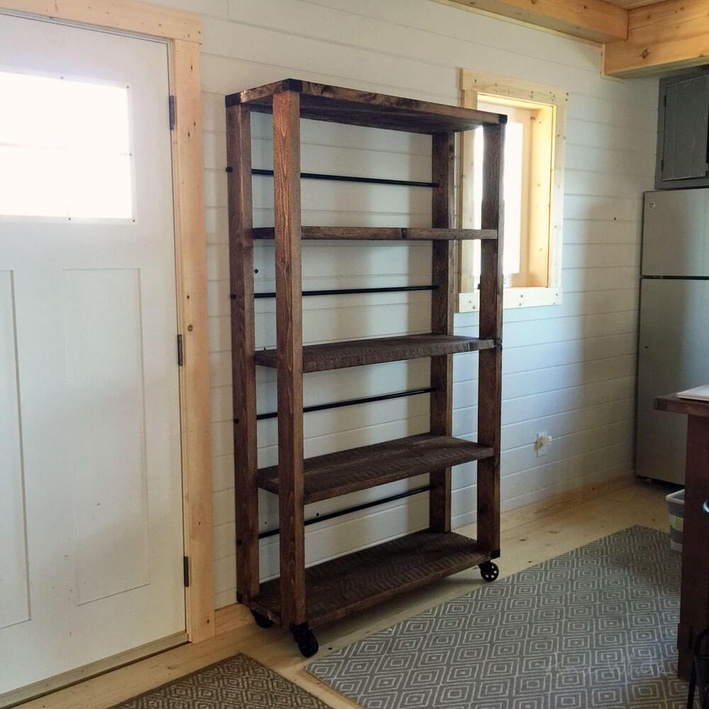 Better Than Metal Reclaimed Wooden Industrial Shelves