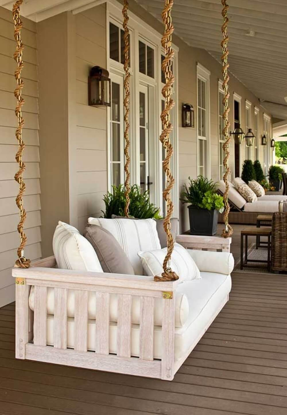 Bed-To-Porch Suspended Swing