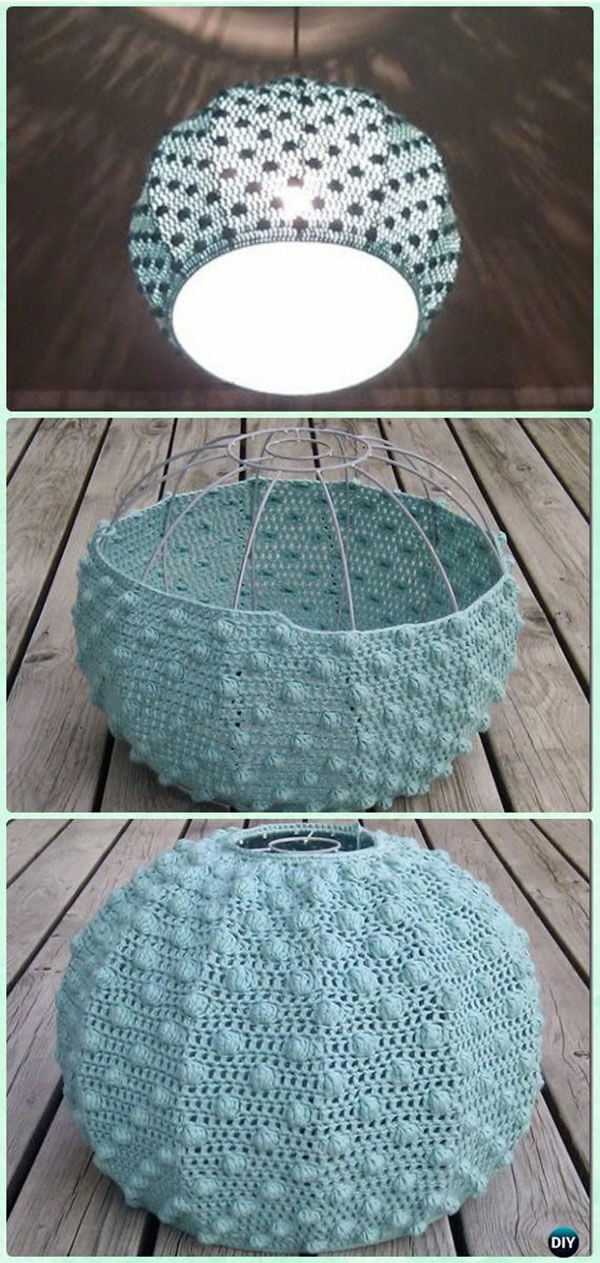 Crocheted Sea Urchin Lampshade