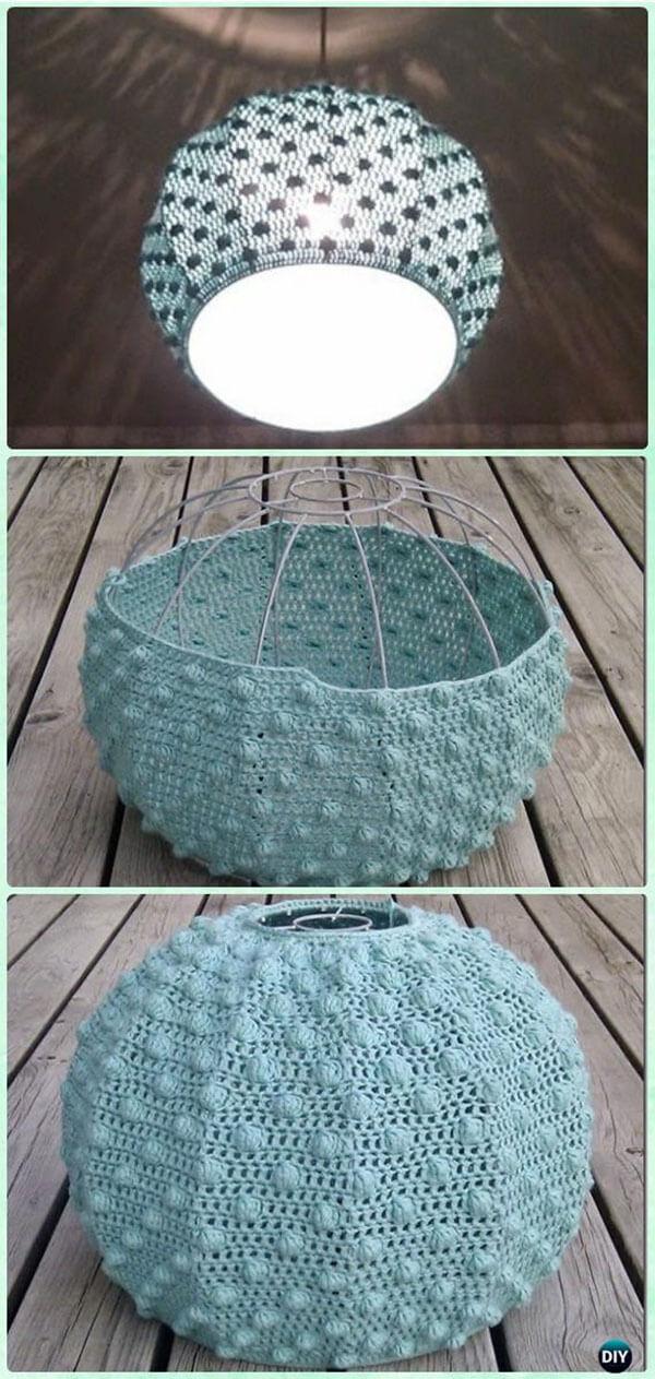 Crocheted Sea Urchin Lampshade