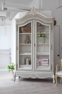 Shabby Chic Armoire painted and antiqued shabby chic armoire — homebnc