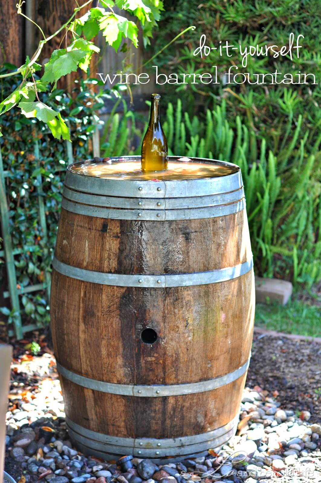 Nectar Of The Gods Wine Barrel Fountain